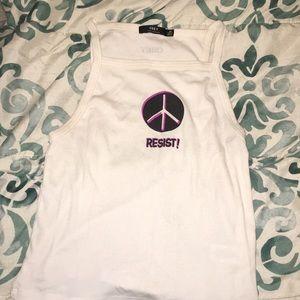 White obey shirt